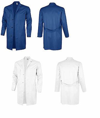 100% QualitäT Berufsmantel Kornblau Weiß Mantel Kittel Arbeitskittel Malerkittel Malermantel