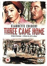 Three 3 Came Home DVD Claudette Colbert Patric Knowles UK Release New Sealed R2