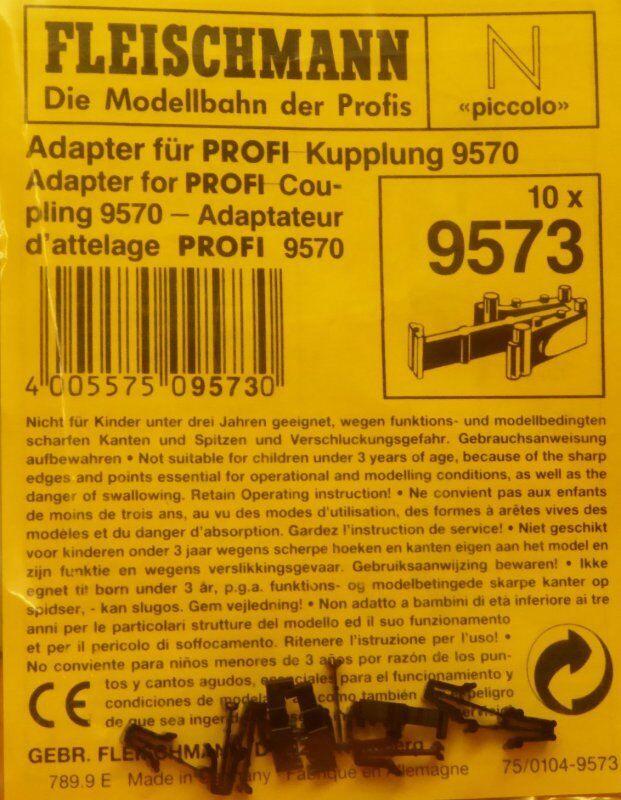 bienvenido a comprar Fleischmann 9573 Escala N 10 X Adaptador Adaptador Adaptador para Profi-Cabezal 9570 Altura  varios tamaños