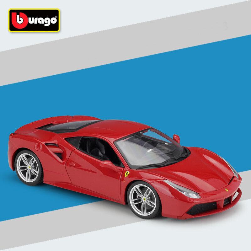 Nuevo Ferrari rosso 488 GTB Juguetes de Coche Modelo Diecast Escala 1 18 en caja por Bburago