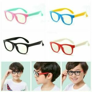 Kids Blue Light Blocking Computer Glasses Boys Girls Silicone Eyeglass Frames