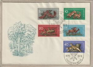 """First-day Letter - """"Protects the Natural"""" Lynx/Deer/Stag/Rabbit/Squirrel 1959"""