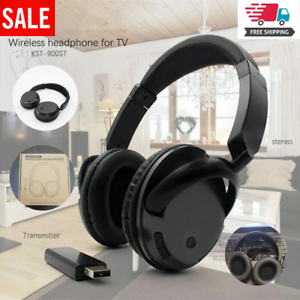 Wireless Headset For Tv Pc Computer Mp3 Support Fm Function With Usb Transmitter Ebay