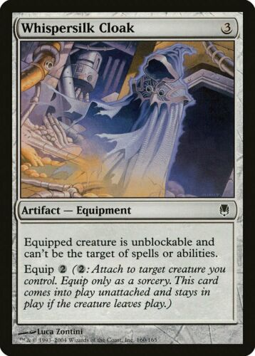 Whispersilk Cloak Darksteel NM Artifact Common MAGIC GATHERING CARD ABUGames