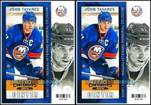 2x-PANINI-CONTENDERS-2013-JOHN-TAVARES-NHL-NEW-YORK-ISLANDERS-MINT-86-CARD-LOT