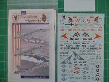 1:48 Decals Eagle Strike 48-066 CARL VINSON/'S HORNETS New