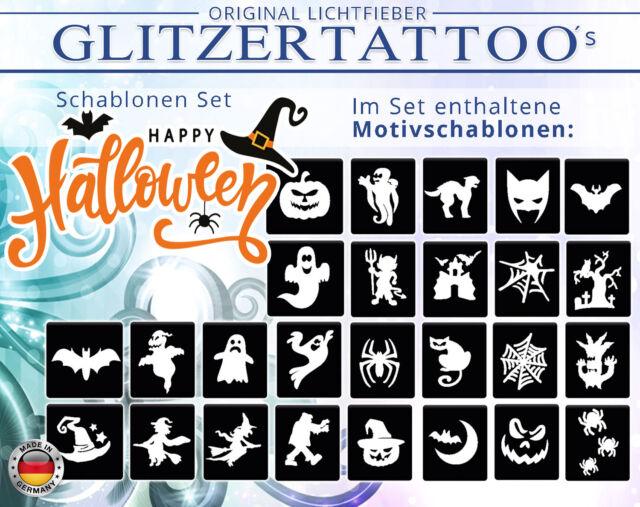 Glitzer Tattoo  Komplett-Set f Motiven /& 3x Glitter Mädchen mit 25 Schablonen