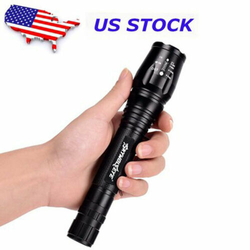 Battery 2Set Super Bright 90000LM T6 LED Flashlight Zoom 18650 Torch Charger