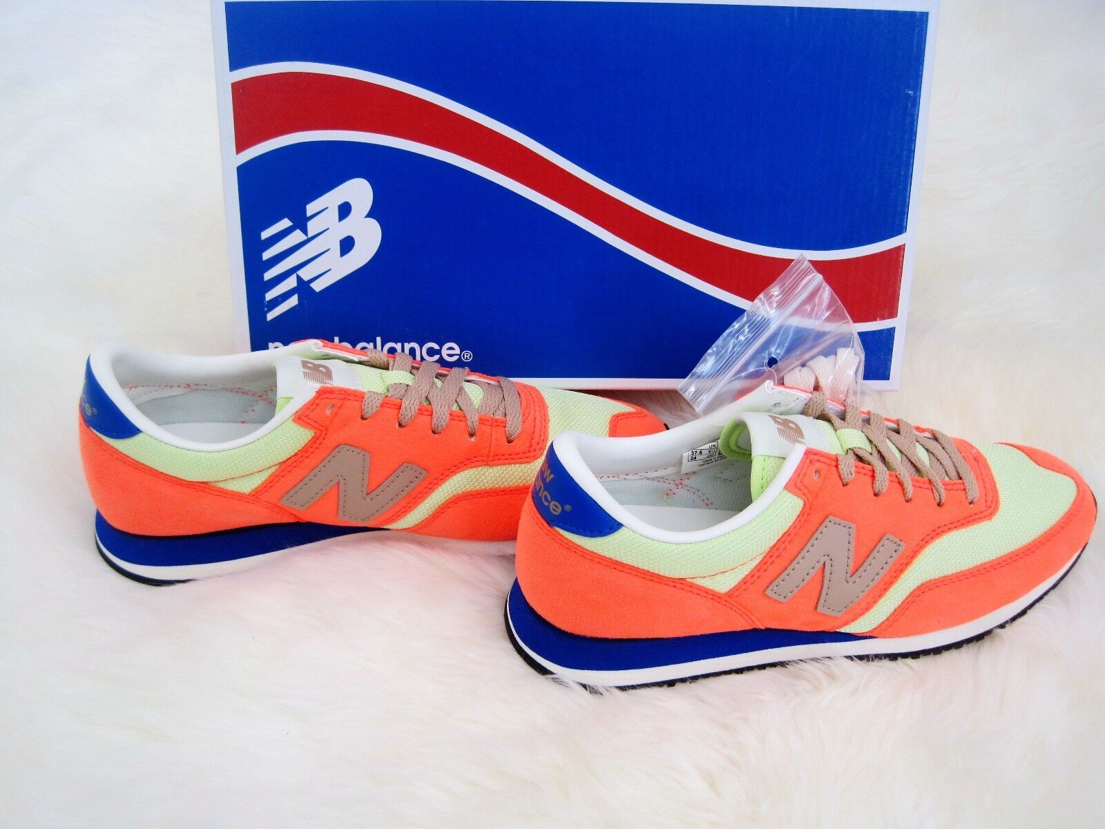 New Balance For J.Crew 620 Sneakers Neon Mango New In Box Women's US Sizes  6-10