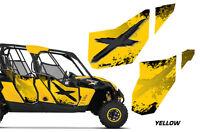 Amr Racing Graphic Wrap Kit Canam Maverick 4 Door Utv Doors Decal Parts Yellow X