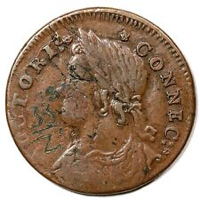 1787 M 33.38-Z.1 R-5+ Connecticut Colonial Copper Coin