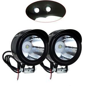 2PCS-Universal-Motorcycle-Motorbike-Black-Headlight-LED-Front-Light-Headlamp-UK