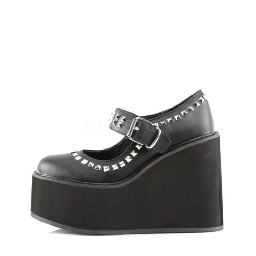 Punk Jane Wedge Scarpe Ladies Mery Swing Hi Goth 03 nere Platform Demonia qXwp60zxq