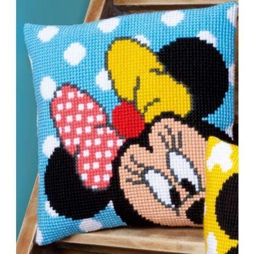 Kreuzstichkissen Stickpackung Disney Minnie mit Garn 40x40cm Vervaco PN-0167234
