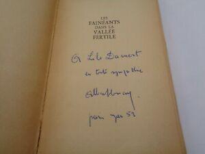 Albert-Cossery-Les-faineants-dans-la-vallee-fertile-Dedicace-manuscrite-1948
