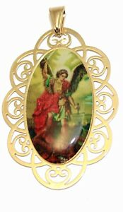 St michael archangel pendant with 20 inch chain san miguel la imagen se est cargando st michael arcangel colgante con cadena de 20 aloadofball Image collections