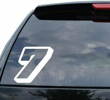 Race Number Seven 7 Go Kart Rally Racing Style 6 Decal Sticker Car Truck Motorc