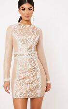 95a69d89a681 item 3 PrettyLittleThing Womens Selenia Rose Gold Premium Sequin Panelled Bodycon  Dress -PrettyLittleThing Womens Selenia Rose Gold Premium Sequin Panelled  ...