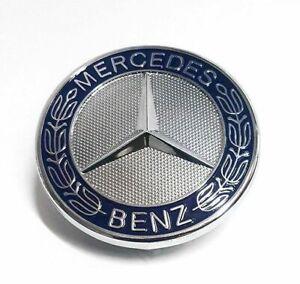 Front Hood Bonnet Emblem Badge Logo For Mercedes Benz C CLK E S Class AMG 58mm