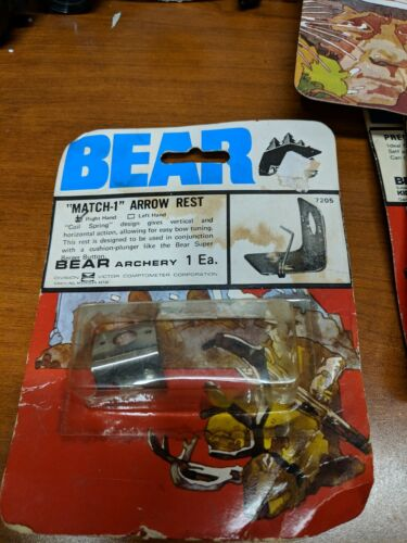 Bear Archery MATCH 1 Arrow Rest for Bows  new old stock GRAYLING MI