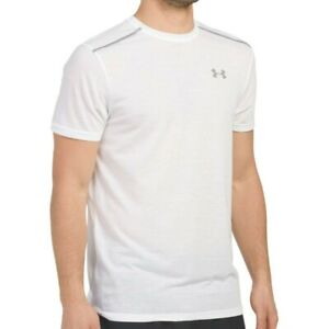 NWT-UNDER-ARMOUR-AUTHENTIC-MEN-039-S-WHITE-CREW-NECK-SHORT-SLEEVE-T-SHIRT-SIZE-M