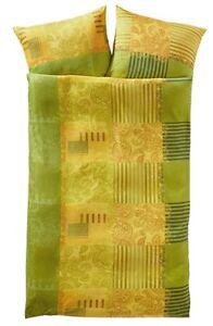 4 tlg bettw sche gr n gelb 40x80 135x200 microfaser satin. Black Bedroom Furniture Sets. Home Design Ideas