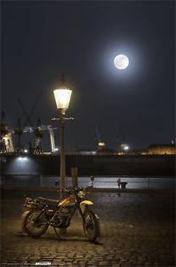 XT500-Onno-039-s-Garage-Poster-Motiv-039-Hafen-039-Grose-ca-76x48cm