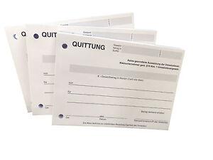1 x QUITTUNGSBLOCK für Kleinunternehmer, 100 BL. ,QUITTUNG,QUITTUNGEN A6 (22426)