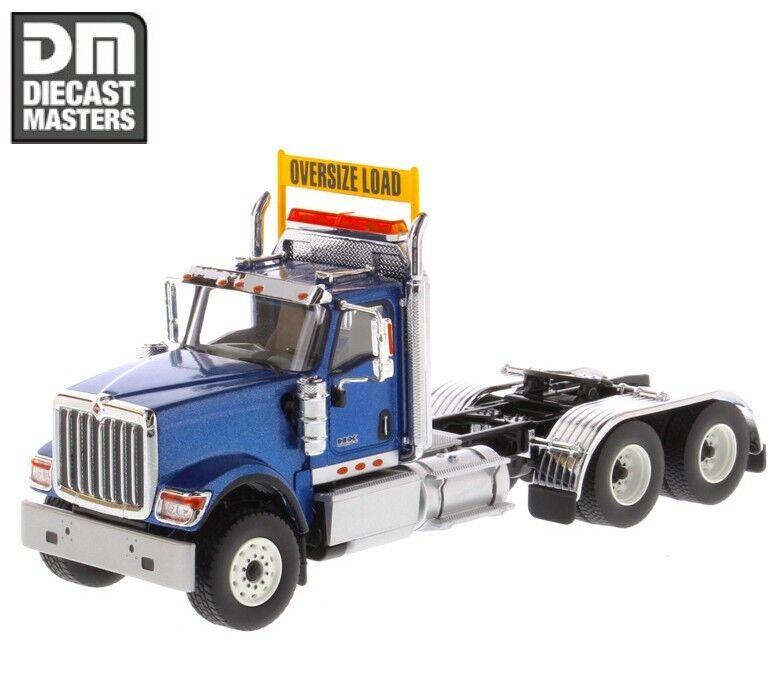Diecast Masters 1 50 Bleu HX520 Day Cab Tandem Tracteur Remorque Camion Modèle Jouets