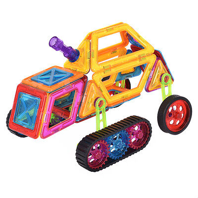 62Pcs Magical Magnet Building Blocks Educational Toys For Kids Colorful Gift Set