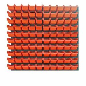 104-teiliges-SET-Lagersichtboxenwand-Stapelboxen-mit-Montagewand-Werkzeugwand