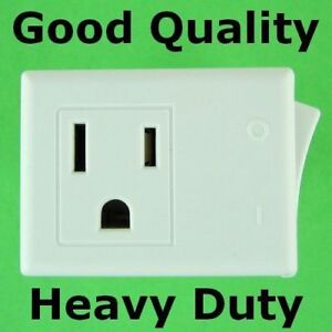 3 Prong Plug In Switchable Outlet On Off Switched Ac Electric Power