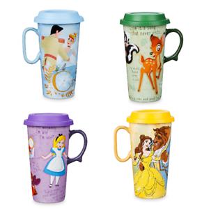 Disney Store Tazza da Viaggio Alice Bambi Cinderella Nuovo 2019