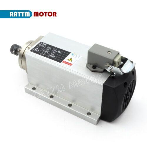 0.8kw Square Air cooled spindle Motor ER11 220V 400Hz for CNC Engraving Machine