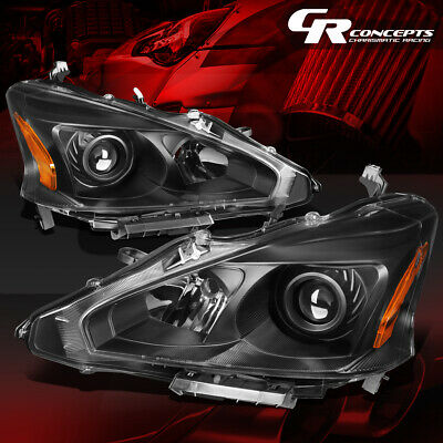 Details about  /FOR 2013-2015 NISSAN ALTIMA SEDAN PAIR PROJECTOR HEADLIGHT LAMP SET BLACK//AMBER