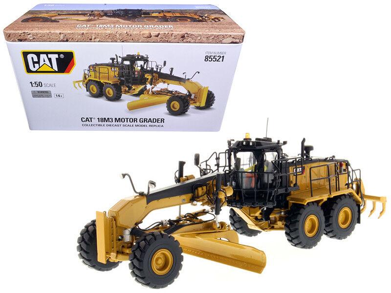 CAT Caterpillar 18 m³ MOTOR GRADER 1 50 Modèle par Diecast Masters 85521