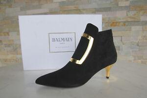Noir 36 Paris Balmain Bottines Chaussures Neuf Autrefois 4wTIRIqEx