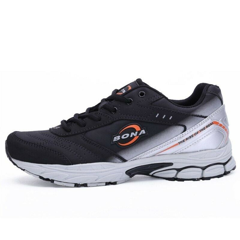 Men Running shoes Sneakers Comfortable Outdoor Walking Breathable Lace-Up Rubber