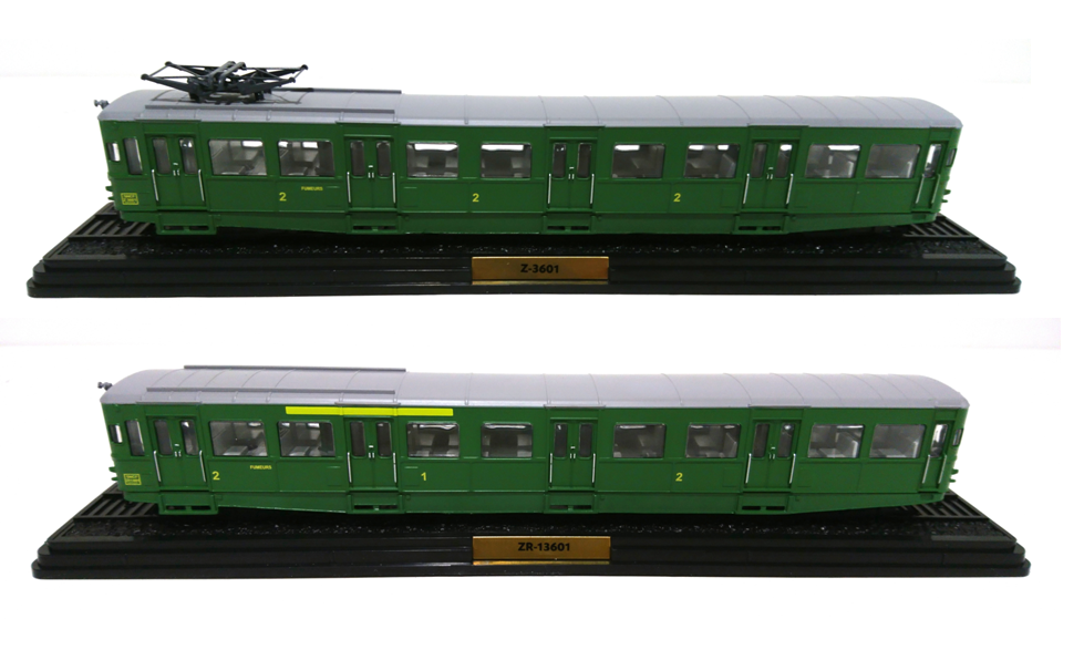 Set 2 Type Z Railautos Ho 1 87 SNCF - French Railstrada Train Locomotive Atlas