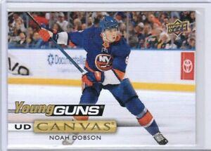 NOAH DOBSON 19-20 UPPER DECK UD *CANVAS* YOUNG GUNS YG ROOKIE CARD #C218 SP RC