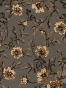 Longaberger-Large-Lg-Desktop-Basket-Khaki-Floral-Fabric-Liner-NIP
