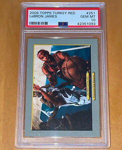 POP-1-of-6-2006-LeBron-James-TOPPS-TURKEY-RED-251-PSA-10-BGS-lakers-pristine