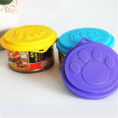 2~5pcs Pet Food Can Cover Lids Dog Cat Pets Tin Plastic Reusable Covers Caps Top