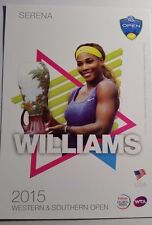 SERENA WILLIAMS 5X7 2015 WESTERN SOUTHERN TOURNAMENT PLAYER COLLECTOR CARD ATP