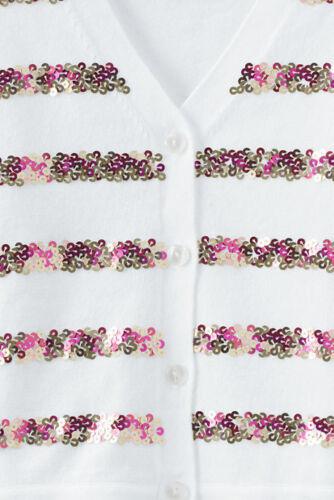 5//6 Sequin Stripe Holiday Sophie Cardigan NWT $49 LANDS/' END Little Girl 4