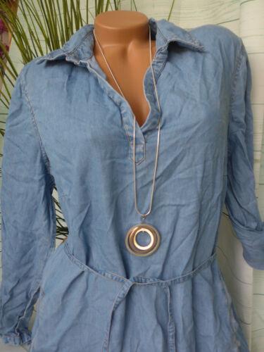 084 Doux Jeté de nouveau Sheego Robe jeans robe femmes taille 40 à 50 bleu