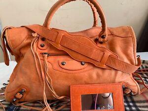 orange balenciaga bag