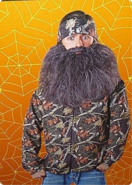 Back Woods Hunter costume with shirt bandana and beard Mens size 40-42 NWT