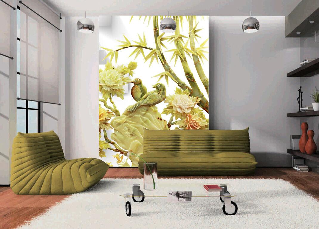 3D Bamboo Bird Flowers 833 Wallpaper Mural Paper Wall Print Wallpaper Murals UK