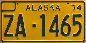 GENUINE-1974-Alaska-For-Hire-USA-License-Licence-Number-Plate-ZA-1465